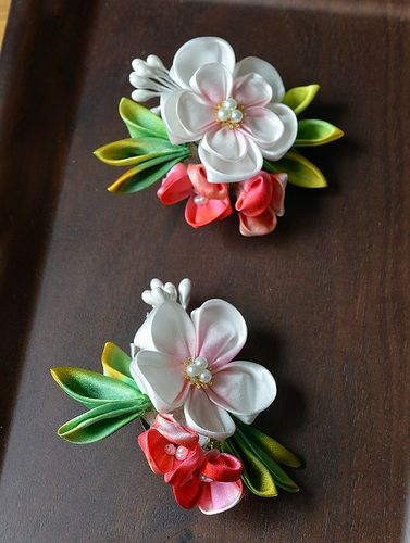 Wedding Party Plum and Holly Kanzashi | por Bright Wish Kanzashi