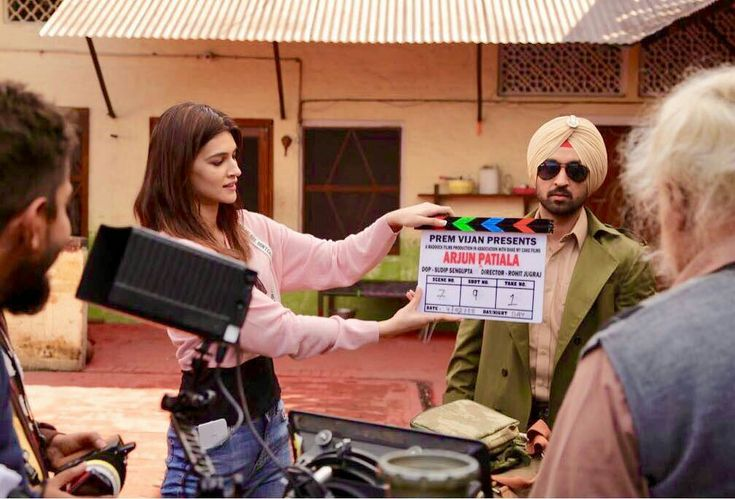 "No shoot for me on Day1 of #ArjunPatiala !! So what.. they had a new AD on set! Actor on mark @diljitdosanjh ""Scene 7, Shot 9, Take 1"" *clap* @maddockfilmsofficial @rohitjugraj"