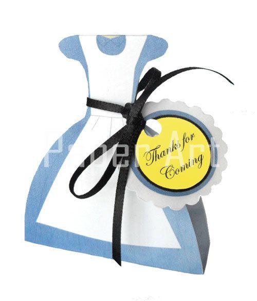 INSTANT DOWNLOAD Alice in Wonderland Dress Favor by PaperArtbyMC