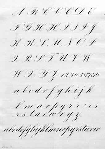 Engrosser 39 S Script Exemplar Iampeth Site Calligraphy