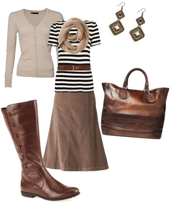 Cozy Boots and crossbody Brown Outfit  balenciaga