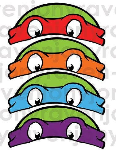 Teenage Mutant Ninja Turtles Masks 4 MASKS per page (page size: 8.5x11 inch) ---------------------------------------------------------------------------------------- ❀INSTANT DOWNLOAD (please check your spam mail) ❀You can print it at home or at any photo store as many as you want