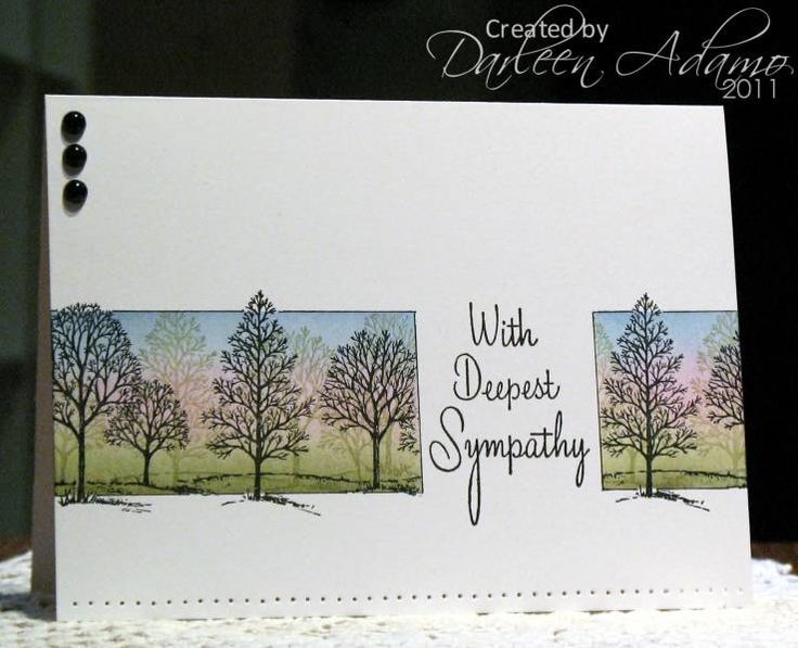 lovely (don't see examples of sympathy cards very often, this is phenomenal)