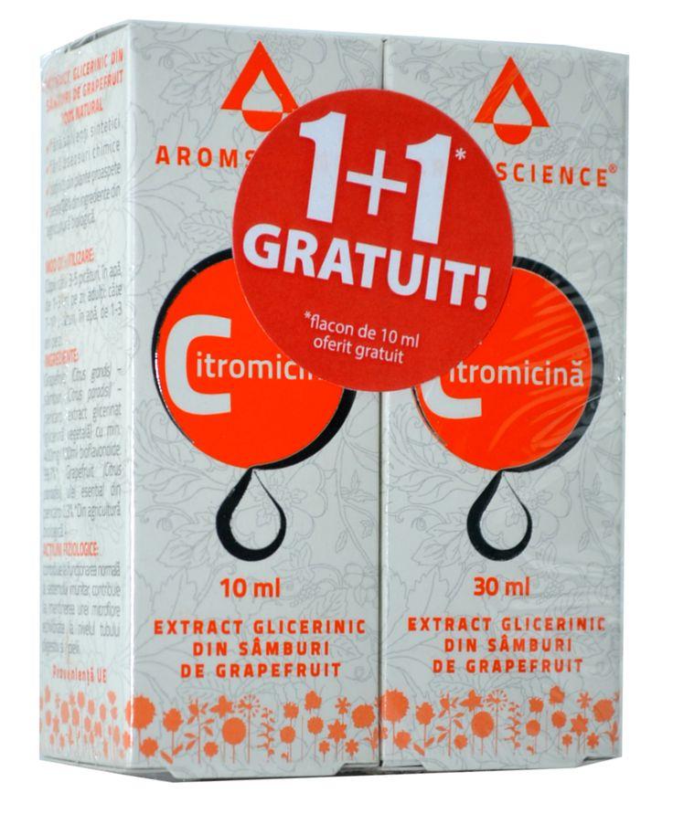 Pachet Citromicina 30ml + 10ml GRATIS Extractul din sâmburi de grapefruit este unul din cele mai puternice antibiotice naturale și antivirale din lume!