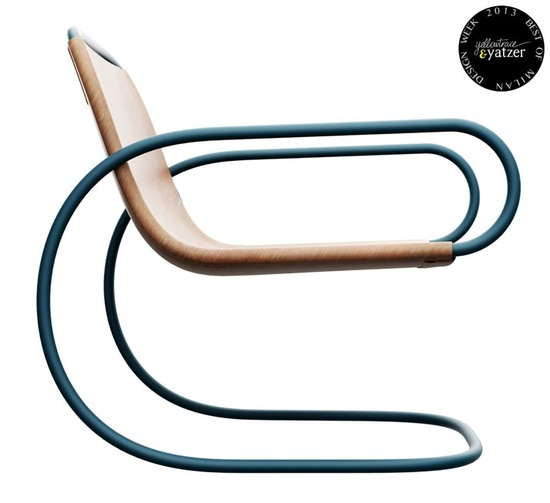 Ecco Chair By Andrea Borgogni Blue Pinterest