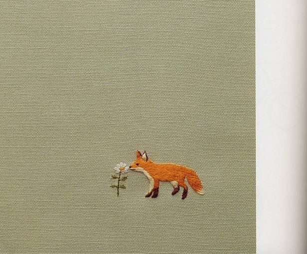 adorable little fox embroidery