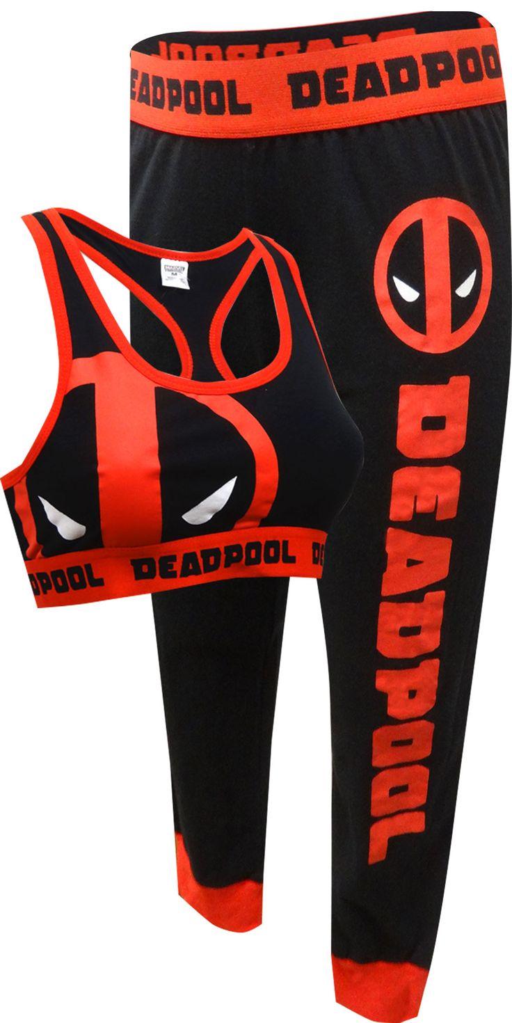 Marvel Comics Deadpool Bra & Legging Set