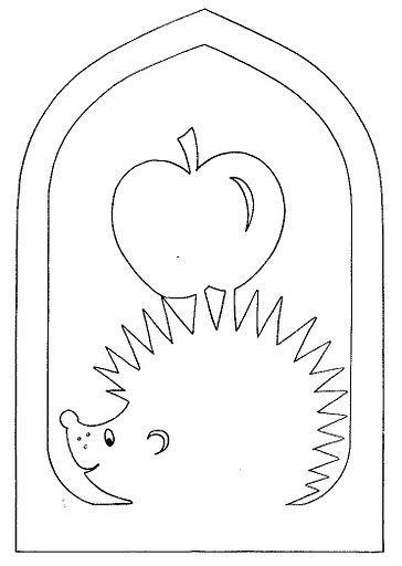 Vystřihovánka - ježek