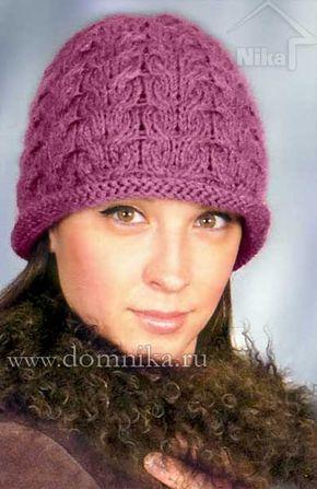 Зимние женские шапки (с изображениями) | Вязаные шапки ...