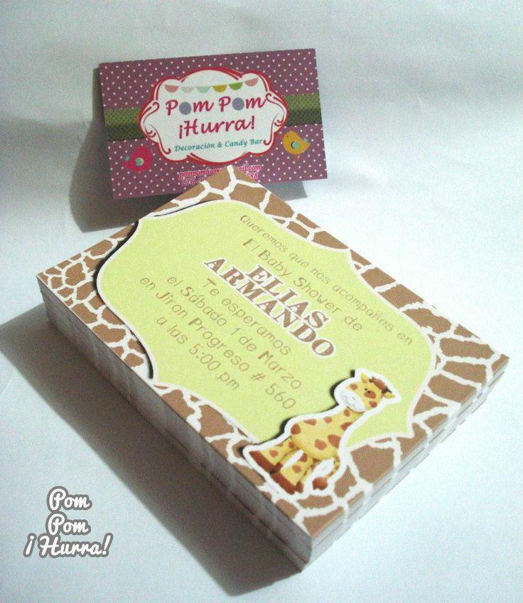 Giraffe Invitation / Invitacion Jirafa https://scontent-b-mia.xx.fbcdn.net/hphotos-ash4/t1.0-9/1898069_671917506204263_1474492865_n.jpg