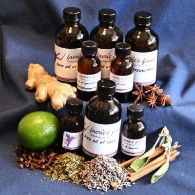 food grade essential oils at faerie's finest-anise, orange, lemon, nutmeg, cinnamon, lavender