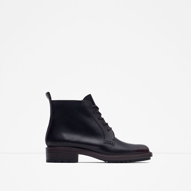 FLAT ANKLE BOOTS WITH LACES-Ankle boots-Shoes-WOMAN | ZARA United States