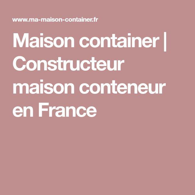 Maison container   Constructeur maison conteneur en France