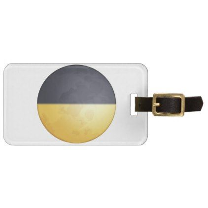 #First quarter moon - Emoji Bag Tag - #luggage #tags
