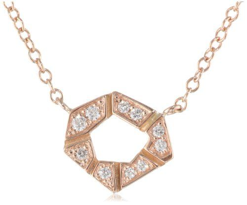 Ron Hami Orighami Diamond Pendant Necklace, 16 Ron Hami's Orighami necklace offers a whimsical design inspired by folded paper, which is glammed up with small diamond accents studding the pendant.. 18k rose gold rolo chain with lobster-claw clasp. Items that are handmade may vary in size, shape, and color.. Domestic.  #Ron_Hami #Jewelry