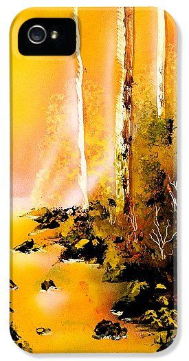 Yellow River IPhone 5 / 5s Case Printed with Fine Art spray painting image Yellow River by Nandor Molnar (When you visit the Shop, change the orientation, background color and image size as you wish)