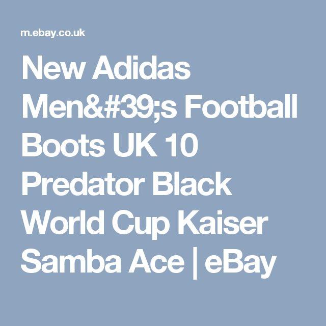 New Adidas Men's Football Boots UK 10 Predator Black World Cup Kaiser Samba Ace  | eBay