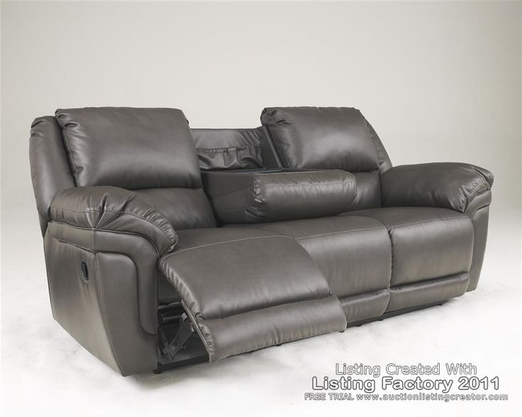 Gray Recliner Sofa And Loveseats Leather Slate Gray