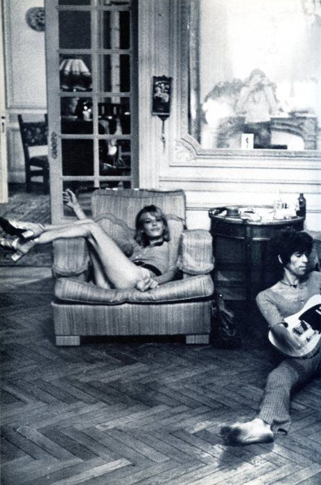 Anita Pallenberg & Keith Richards #twoisbetter In the south of France making Exile on Mainstreet