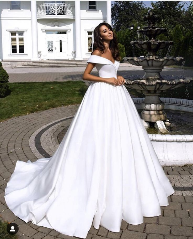 2018 Milla Nova Simple Satin Wedding Dresses 34 Long: Pin By Dwra Papadopoulou On Wedding In 2019