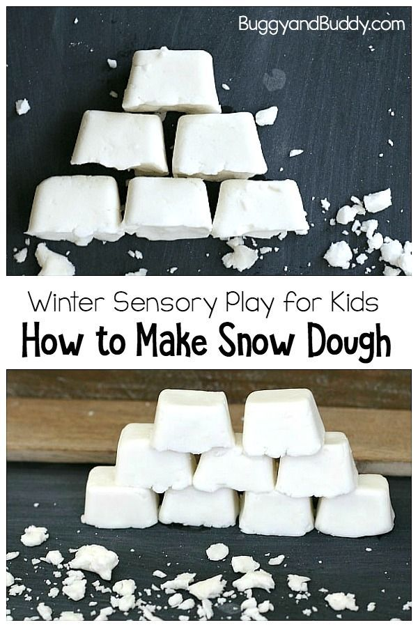 How To Make Snow Dough How To Make Snow Winter Activities For Kids Snow Dough