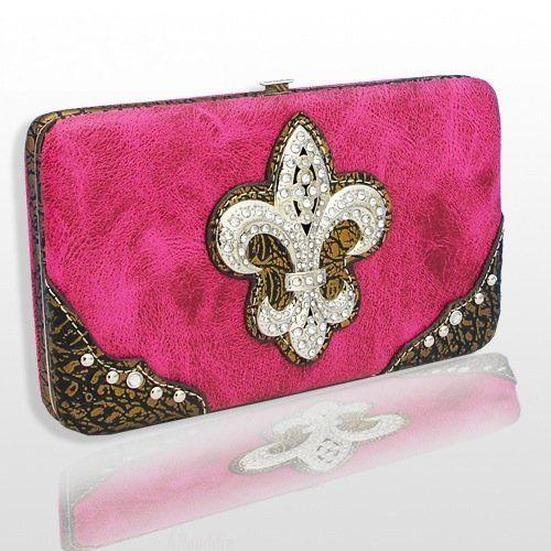 H. Pink Fashion Fleur De Lis with Rhinestones Wallet . Save 33 Off!. $19.95. COLOR: HOT PINK