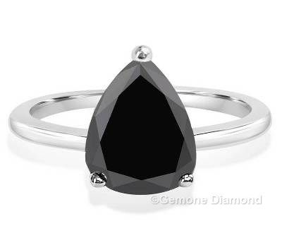 This Ring Quality of the stone is AAA quality. Color of the Natural Black diamond is Jet Black color.