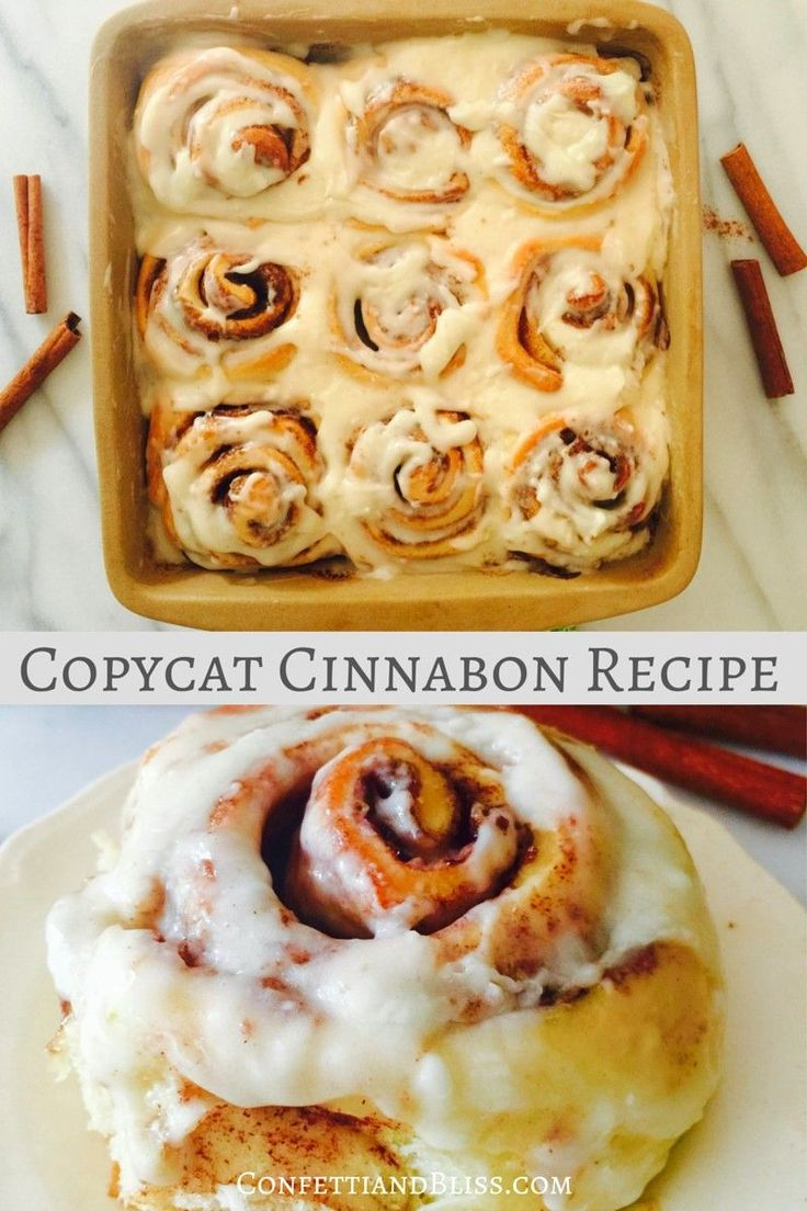 The best recipe for copycat Cinnabon Cinnamon Rolls! It's super easy to make these scrumptious treats from scratch. PIN NOW FOR LATER!