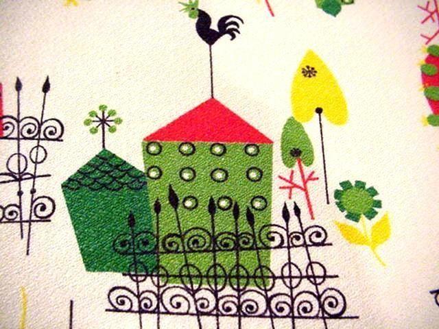Vintage 50's MODERN FARM Themed Midcentury WHEELBARROW OF BUTTONS Weathervanes