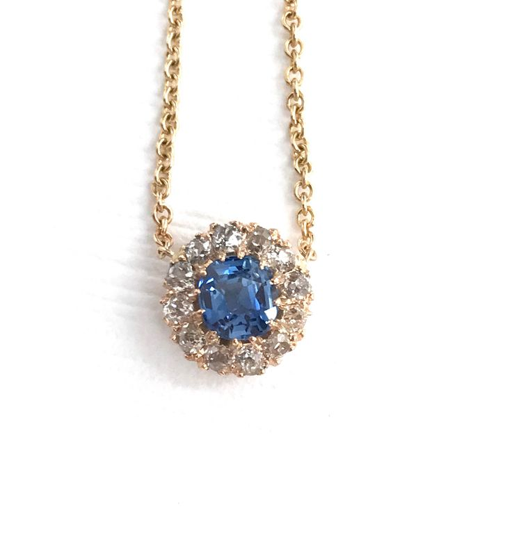 A personal favorite from my Etsy shop https://www.etsy.com/listing/541444202/natural-sapphire-and-diamond-halo