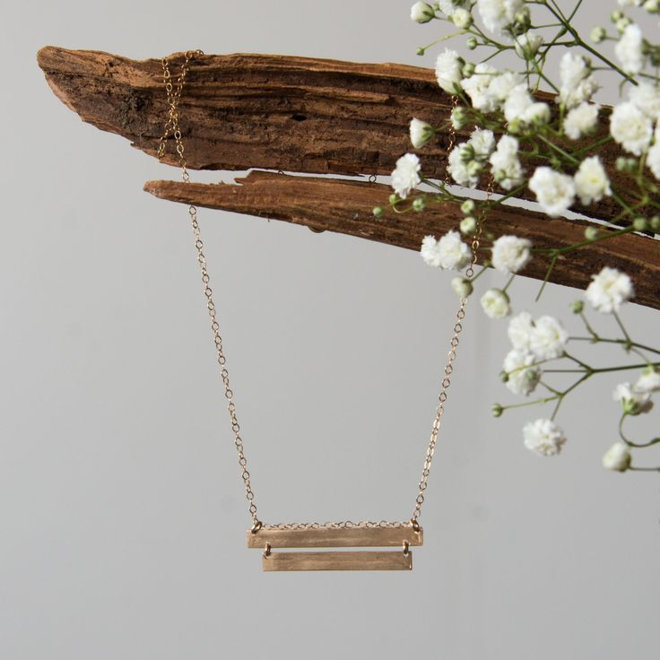 Double Bar Necklace – Magnolia Market (would love to have a simple gold necklace that would look great with casual outfits