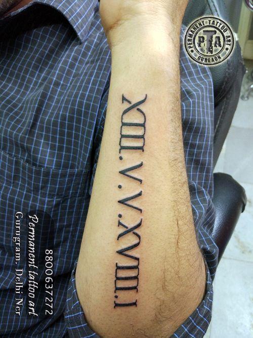 Date of birth in Roman Number done by Deepak Kalra  #dateofbirthtattoo #romannumbertattoo #wristtattoo  #tattoo #tattooartist #indiantattoo #custom #gurgaontattoo #haryana #gurgaon #gurugramtattoo #tattooindia #tattoogurgaon #gurugram #permanenttattooart #mentattoo #tattoos #gurgaonncr #delhincr #tattooinindia #tattooingurgaon