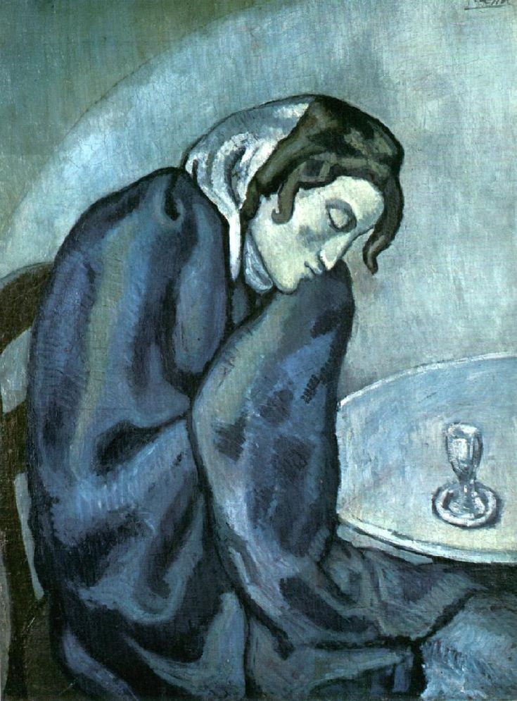 Pablo Picasso.  Miss-e-wong: The absinthe drinkers