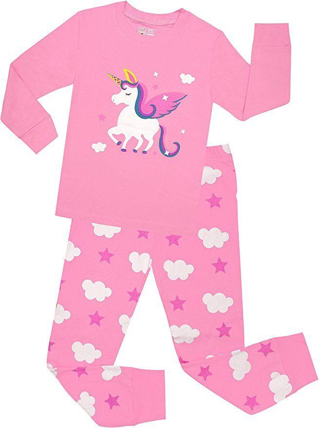 Little Girls Horse Pajamas Set Children Christmas PJs 100% Cotton Sleepwear  Size 2 Years 235add0a4