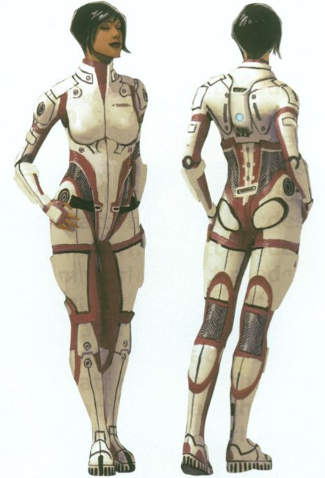 Mass Effect Concept Art: Ashley Williams // good armor design