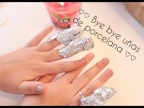 Cómo quitar uñas de porcelana (acrílicas) ♡ - YouTube