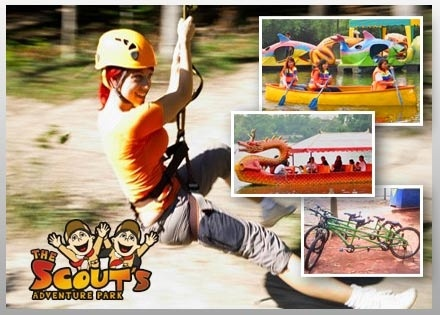 Voucher Wisata : Disc. 52% OFF for Amazing Experience at Scouts Adventure Park Only Rp 60.000 by. LaKupon.com