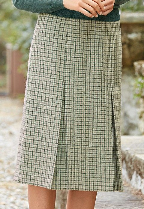 Invert pleat skirt | £105 | Woven in a British heritage milll.