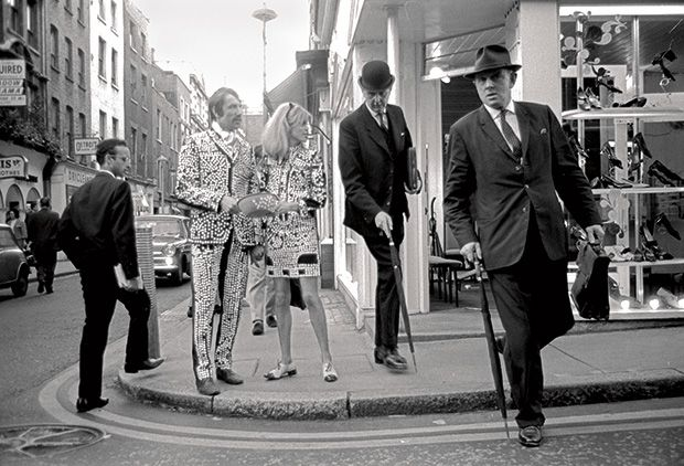 Swinging Sixties London | Sotheby's |  A couple hanging around Carnaby Street in pearly king and queen costumes.