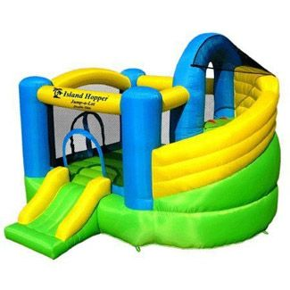 Jump-A-Lot Double Slide Inflatable Bounce House by Island Hopper - Bounce Houses Now