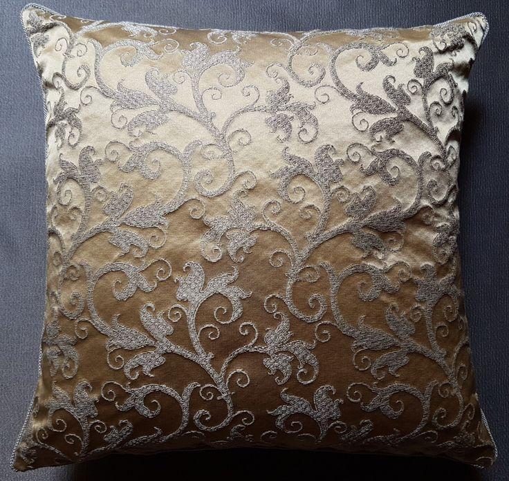 Throw Pillow Cushion Cover Silk Lampas Rubelli Fabric Honey Giambellino Pattern - Handmade in Italy by OggettiVeneziani on Etsy