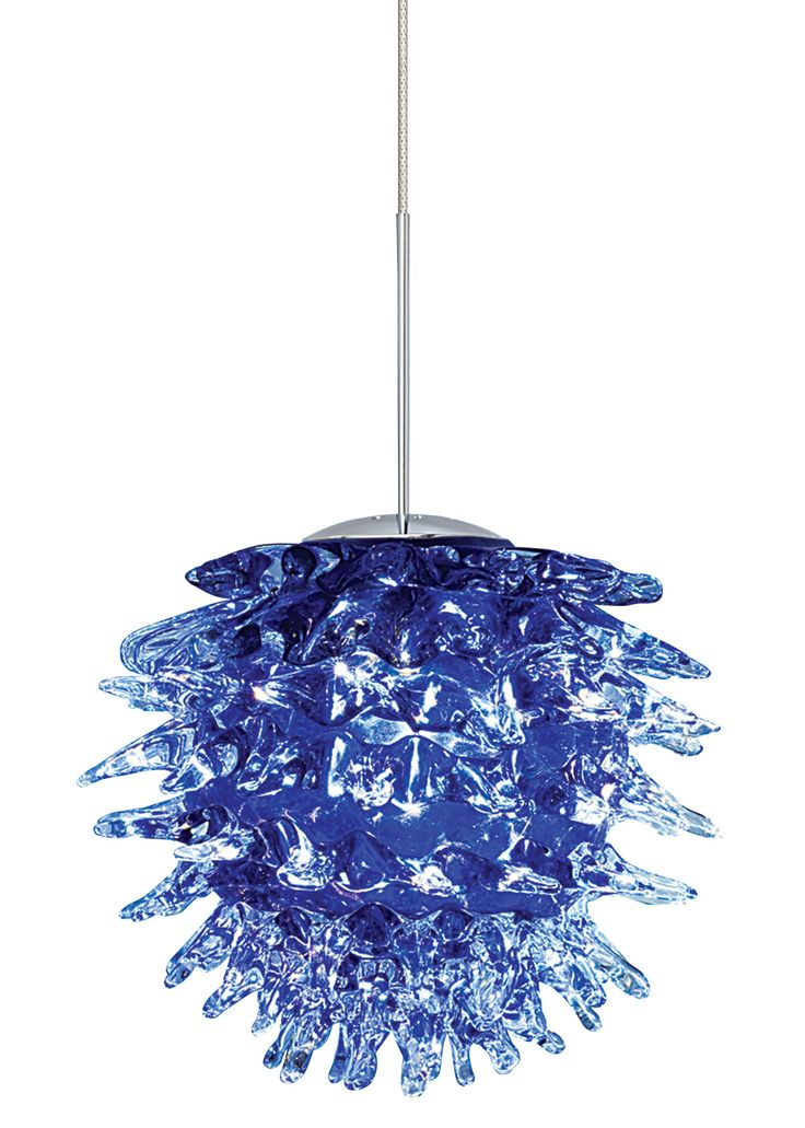 Lbl lighting ooni single light mini pendant with blue shade
