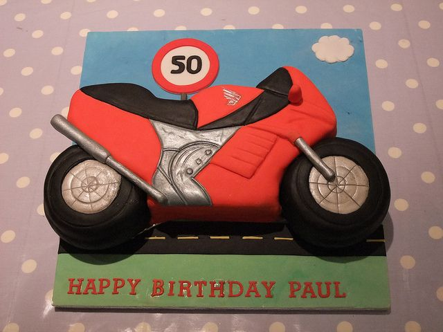 Motorcycle sports bike birthday cake  Race / motorcycle birthday party