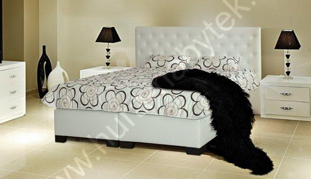 Exkluzivní postel Velorum zvýšené čelo 200x140 cm čalounení A   Hurá-Nábytek.cz