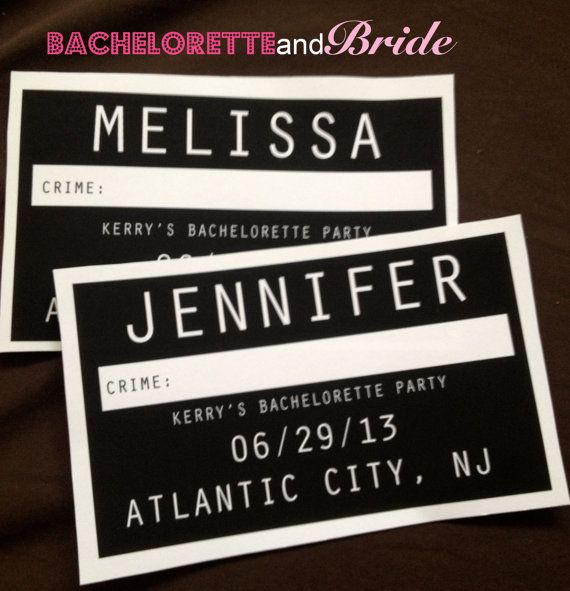 Custom Mug Shot Bachelorette Party Signs by BacheloretteandBride