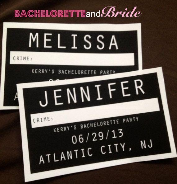 Custom Mug Shot Bachelorette Party Photo Signs by BacheloretteandBride #wedding #bacheloretteandbride