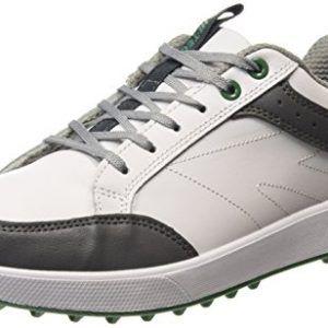 Hi-Tec Combi Spikeless Men's Golf Shoes - White (White/Grey/Green 011), 9 UK (43 EU)