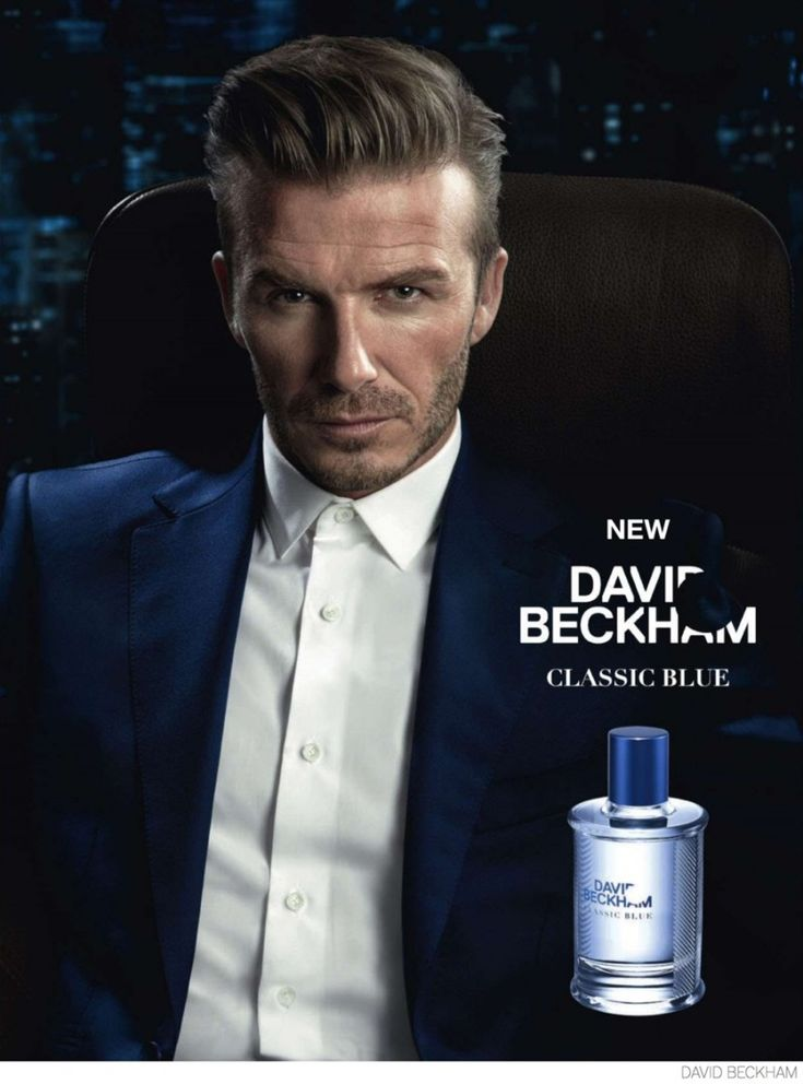 David Beckham Classic Blue Fragrance Campaign