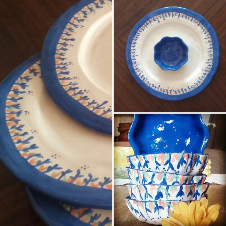 platos de ceramica / plate pottery Tabla para queso / cheese board