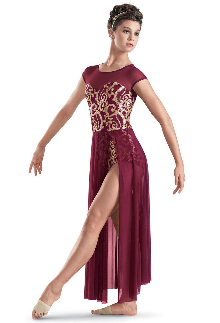 Weissman™   Sequin Brocade Long Skirt Dress: modern costume 2014-2015
